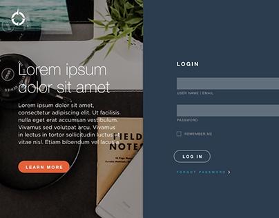 FranklinCovey Portal Login Design Concept