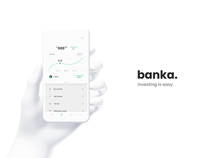banka. – Investment and banking app concept