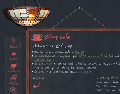 Redcup Cafe bespoke web design & build