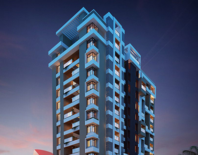 3D Highrise Rendering For An Apartment