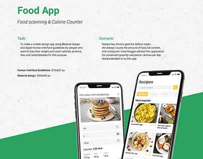 Food scanning & Calorie counter app for IOS and Android