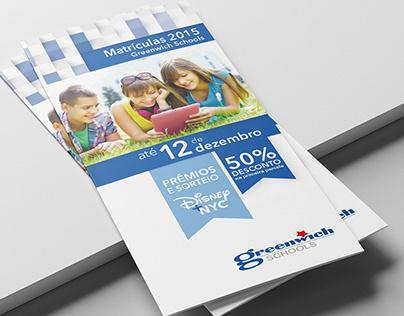 Folder - Campanha Matrículas 2015 Greenwich Schools