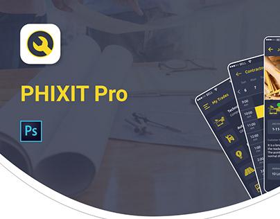 Phixit Pro App UI UX Design
