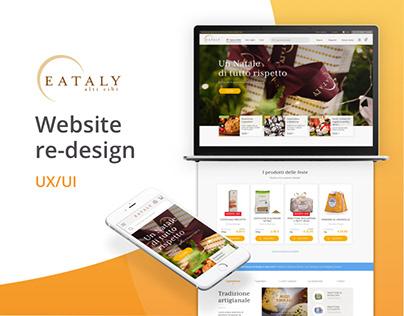 Eataly website re-design