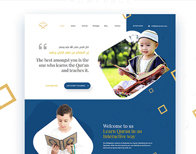 Learn Quran Academy website UI/UX Design