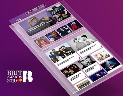 The Brits Awards - UI/UX DEsign & Social Campaign