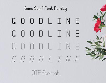 Goodline. Sans Serif Font Family