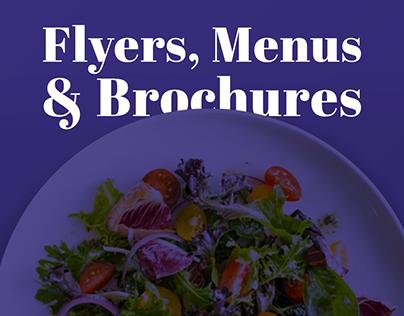 Flyers, Brochures And Menus | 2018