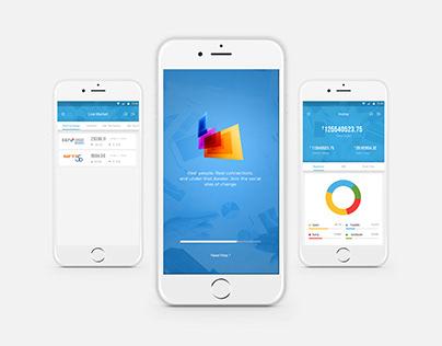 Financial App Concept App UI/X Design
