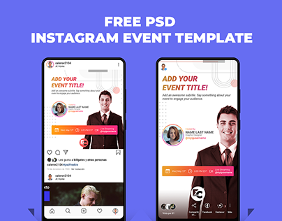 Free PSD Template for Instagram