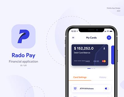 Rado Pay Banking app Design