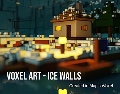 Game Art - Ice Walls Voxel Model