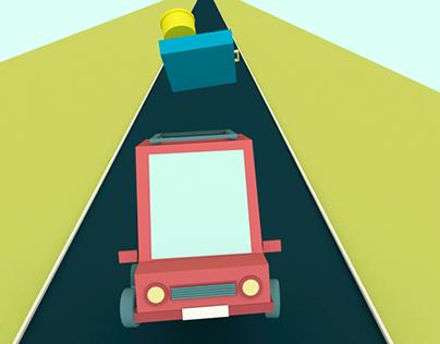 Crazy Car Animation