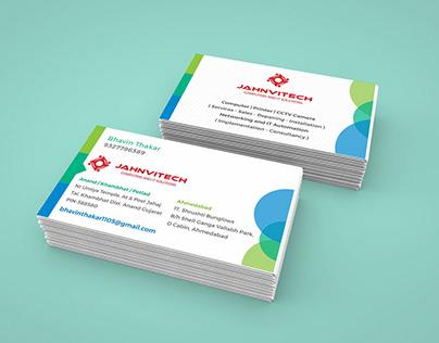 JahanviTech Visiting Card Design