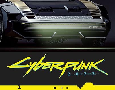 CYBERPUNK 2077, Quadra TURBO-R 3d concept