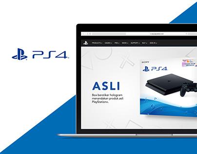 PlayStation4 - Web Design
