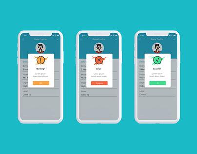 Modal Alert Mobile Apps
