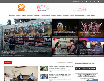 Sitio Web Enfoquesperu.com