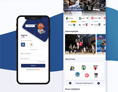 Sports Website and App Design | Development