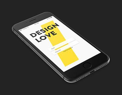 Design Love Adobe Xd Contest Project