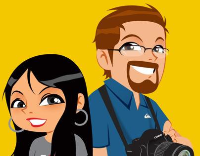 Malik & Mina (vector characters)