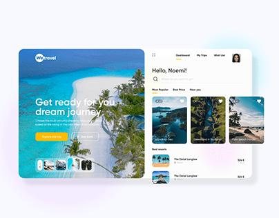We travel - UI/UX landing page