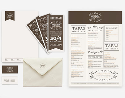 Visual identity for restaurant