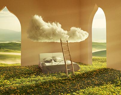 toscana dream surreal 3d artwork