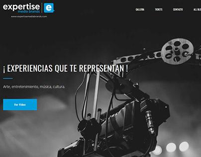 Sitio Web para Expertise Media Brands