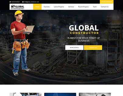 Global Constructor - Construction Single Page Template