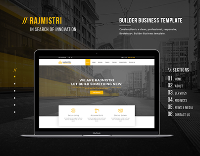 Rajmistri - Construction Builder Company Template