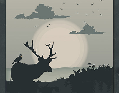 Deer Spirit Animal illustration
