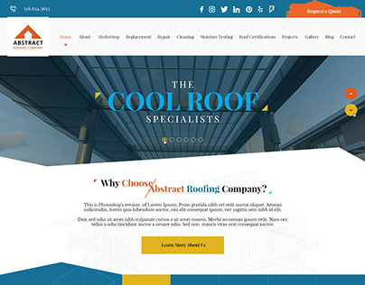 Abstract Roofing - Website Design