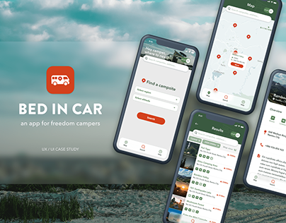Bed in Car - an app for freedom campers | UX case study