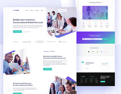 Kunor Business Consulting Landing page