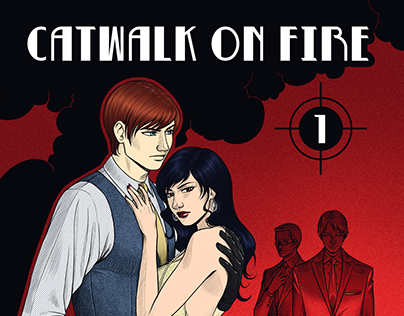 CATWALK ON FIRE comic project - sample -