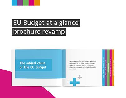 EU Budget brochure revamp