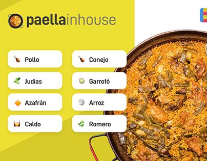 PaellaInHouse. Prototype ecommerce single product.