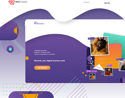 BeCards - Web app para tarjetas digitales