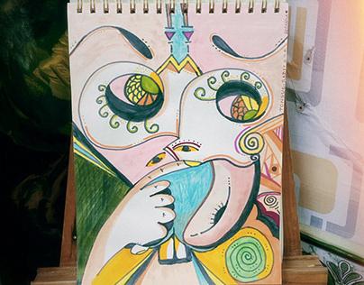 The Tongue Rabbit - Drawing