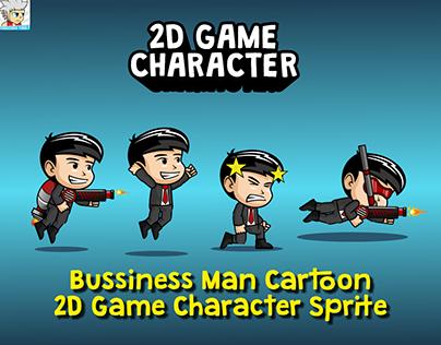 Bussiness Man Cartoon 2D Game Character Sprite