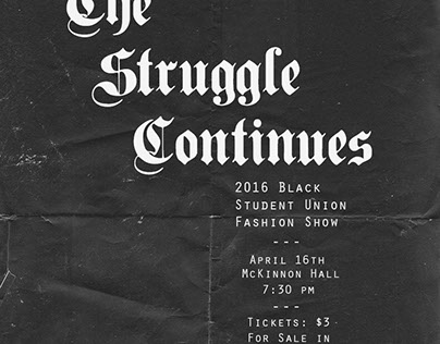 Promo: 2016 Black Student Union Fashion Show