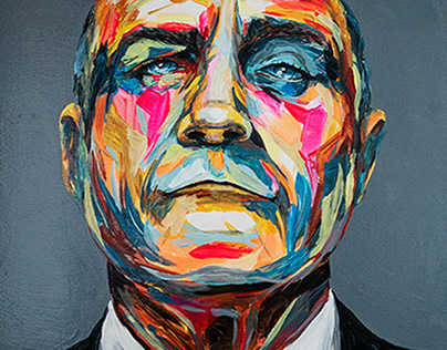 Phil Collins painting by carographic
