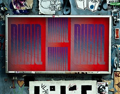 NUBIQ - variable street typeface
