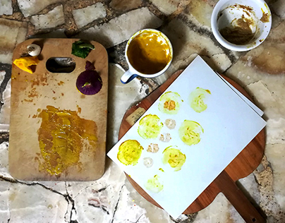 Serie de tintas vegetales caseras