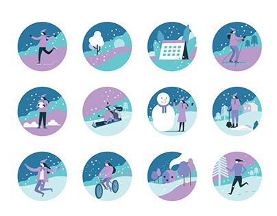 Winter Activity Icons