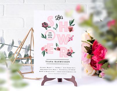 T+G Wedding Invites