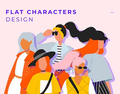 Flat Character Illustration   Fashion