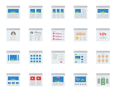 Web Layout Design Icon Pack