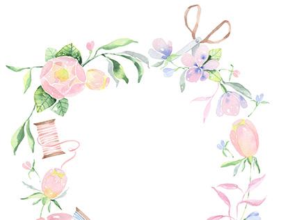 Watercolor Botanical Logo